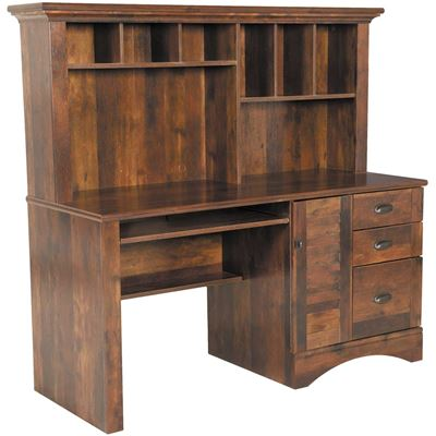 Picture of Harbor View Curado Cherry Computer Desk with Hutch