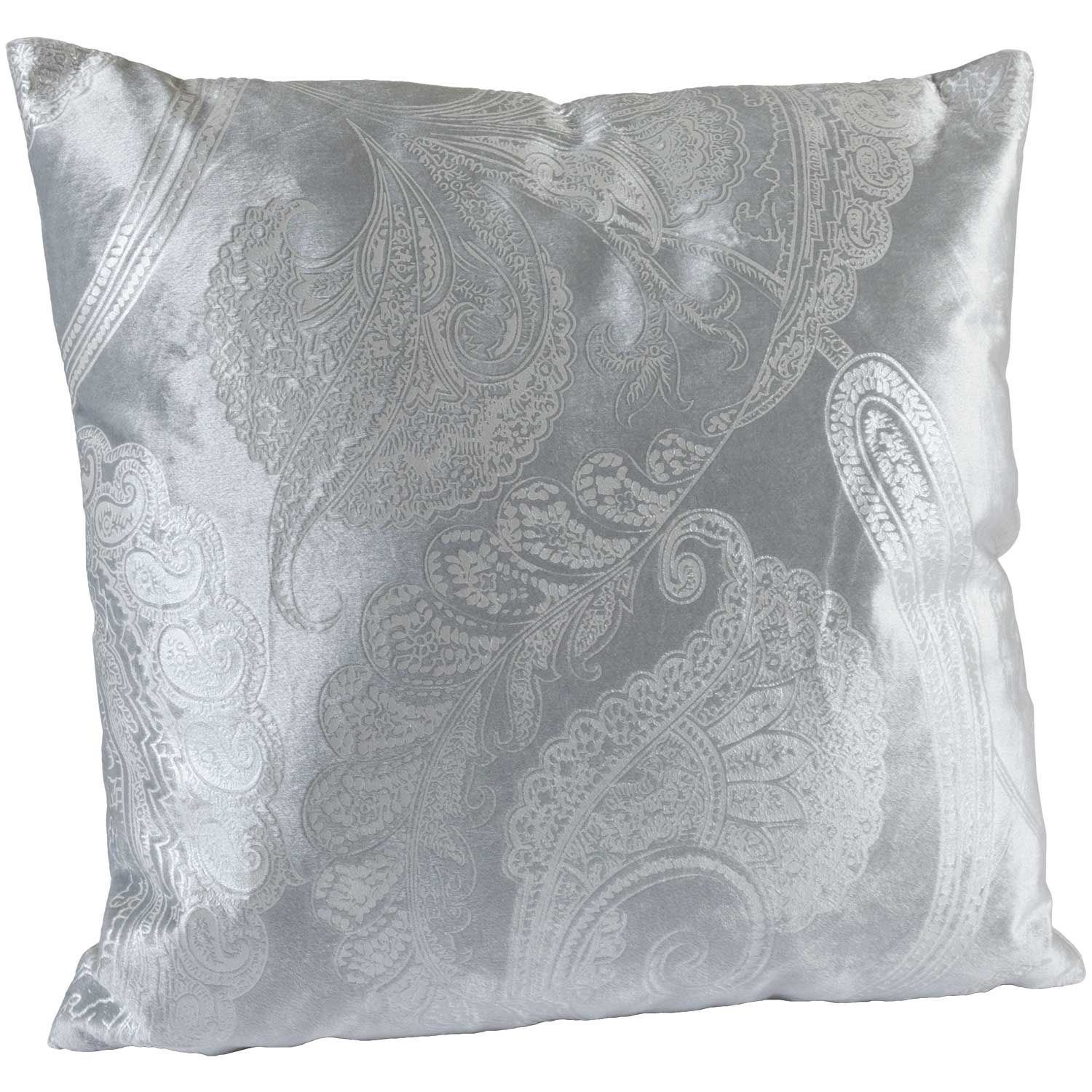 Picture of Snow Paisley 18x18 Decorative Pillow
