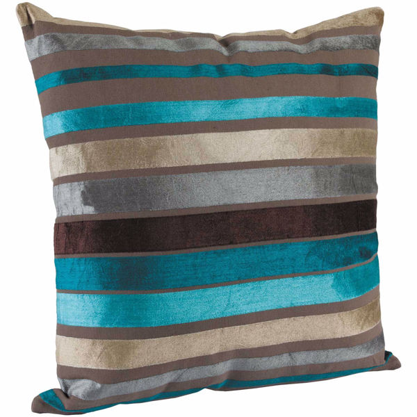 Picture of Teal Stripe 18x18 Pillow