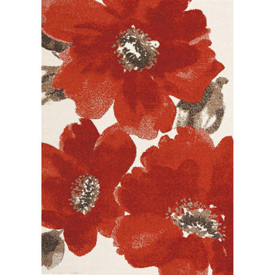 Picture of Explosive Red Flowers 5x8 Rug