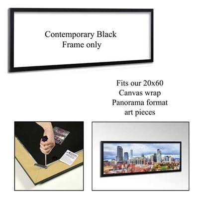 Picture of Contemporary Black Frame 20X60