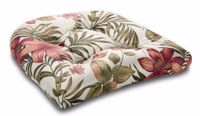 Picture of Single Cushion-Red Floral