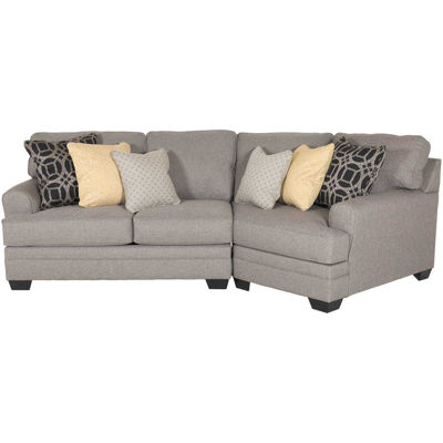 Picture of Cresson 2 Piece Pewter Sectional with RAF Cuddler