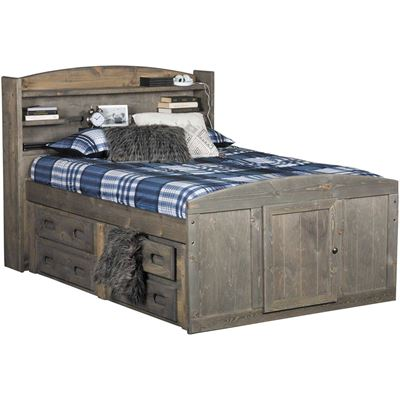 Picture of Cheyenne Driftwood Full Captain's Bed with Two Underbed Storage Units