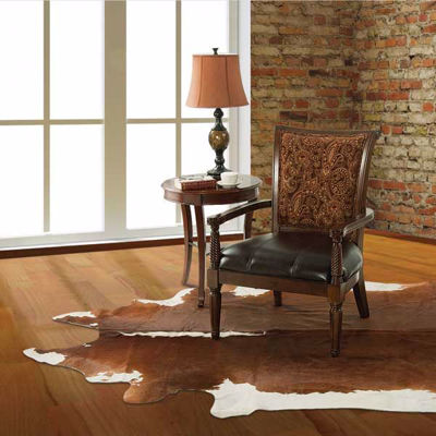 Picture of Brown White Cowhide