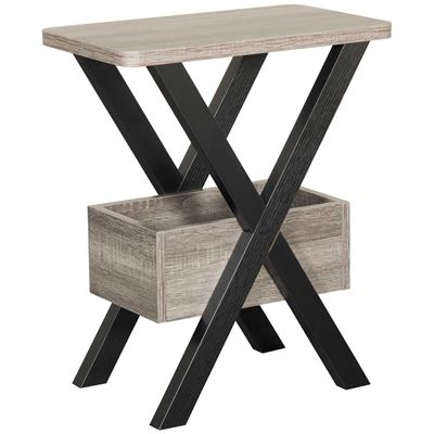 Picture of Black and Gray Chairside Table