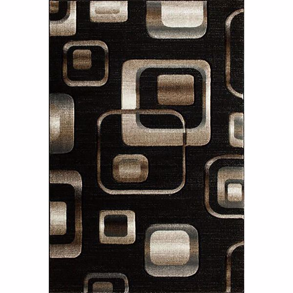 Picture of Lineville Black Squares 5x7 Rug