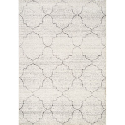 Picture of Focus Grey Ivory Tiles 8x10 Rug