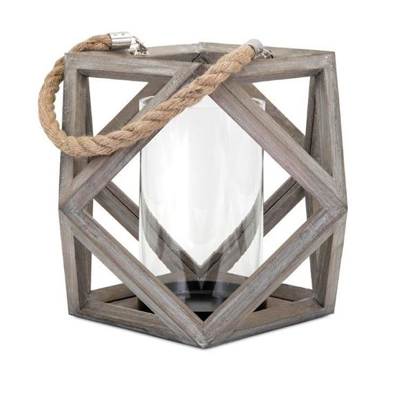 Picture of Ares Wood Lantern Large