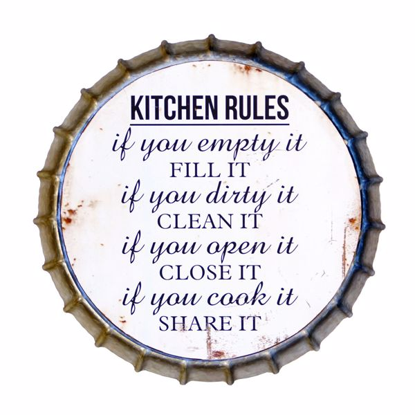 Picture of Kitchen Rules Bottle Cap