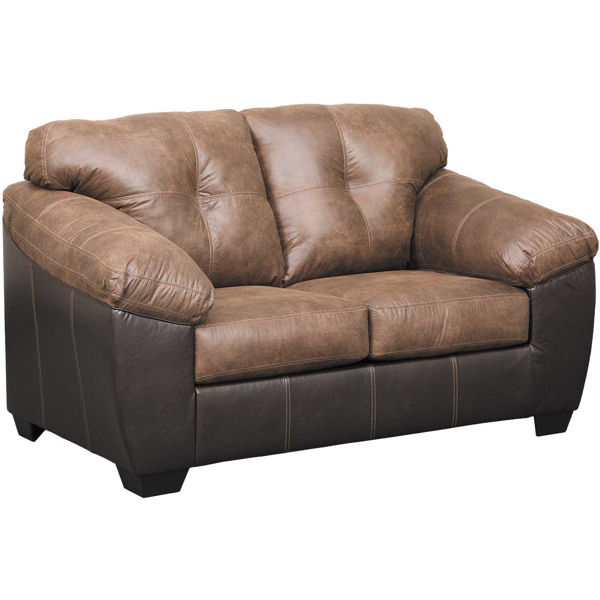 Picture of Gregale Coffee Two-Tone Loveseat