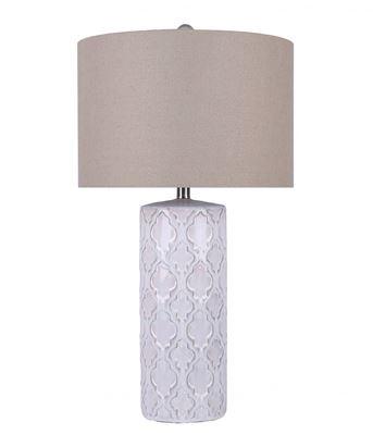 Picture of White Ceramic Design Table Lamp