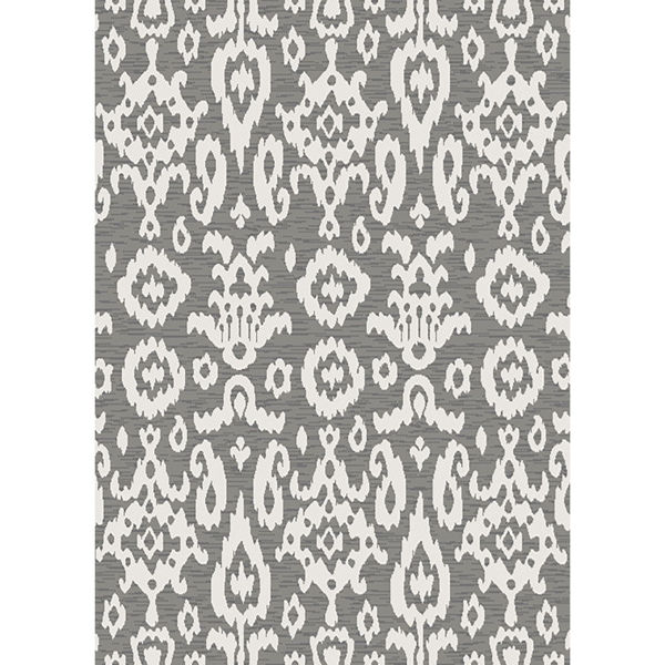 Picture of Easy Clean Grey Ikat 8x10 Rug