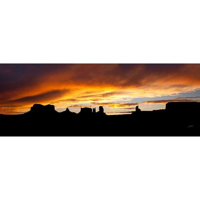 Monument Valley Storm Sunset 60x20