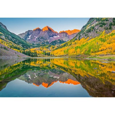 Maroon Bells Lake In Fall 24x36