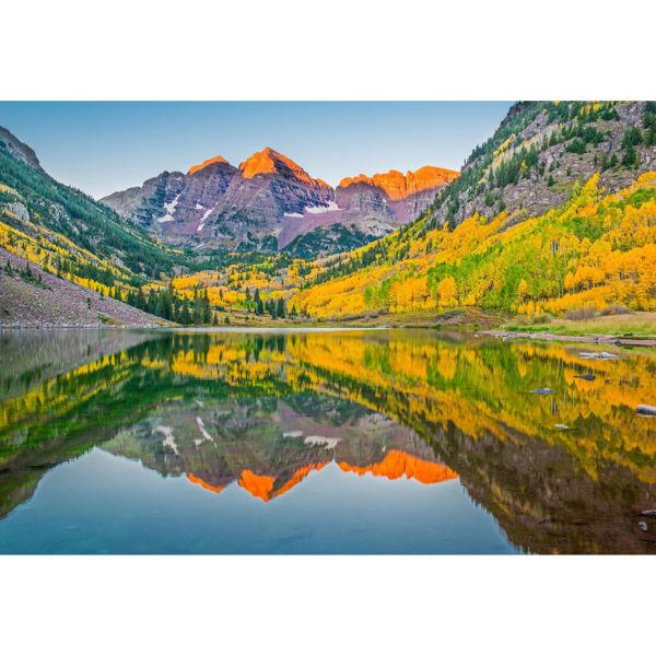 Maroon Bells Lake In Fall 24x36