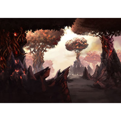 Fire Forest 24x16