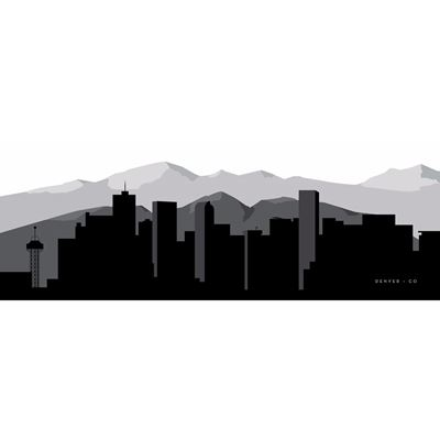 Denver Graphic Skyline 60x20