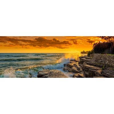 Stormy Sunset Over Lake Ontario 60x20