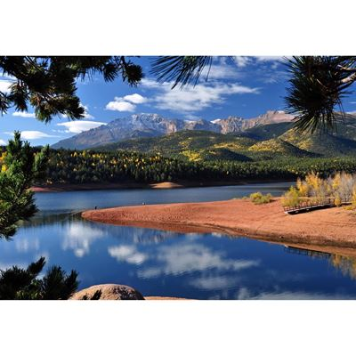 Pikes Peak at Crystal Reservoir 48x32