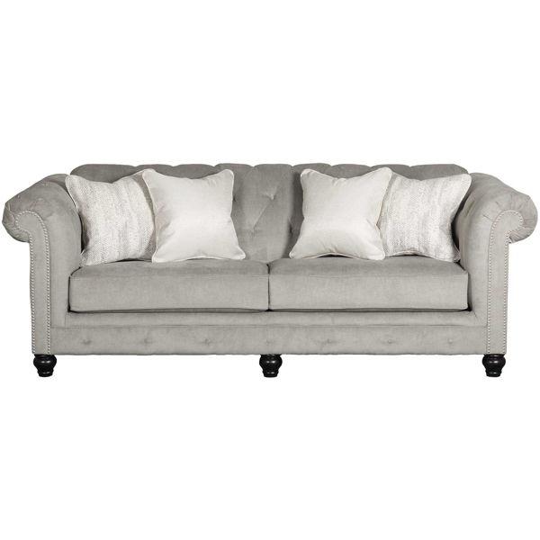 Picture of Tiarella Silver Tufted Sofa