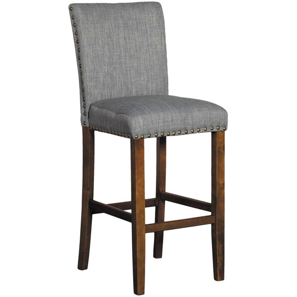 """Picture of Grey Linen 30"""" Barstool"""