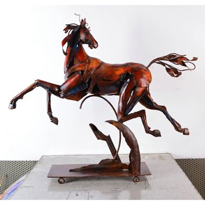 Picture of Horse Metal Sculpture
