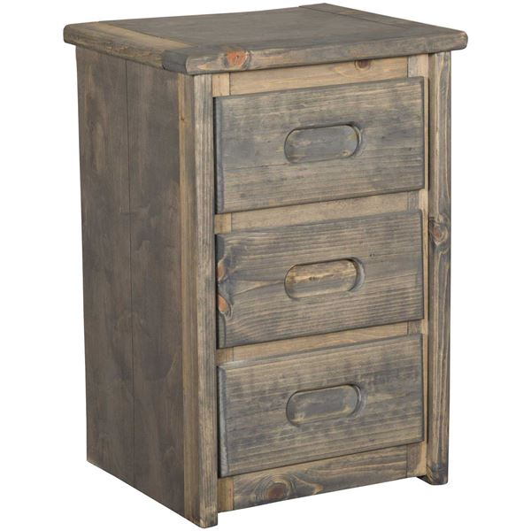 Picture of Cheyenne Driftwood 3 Drawer Nightstand