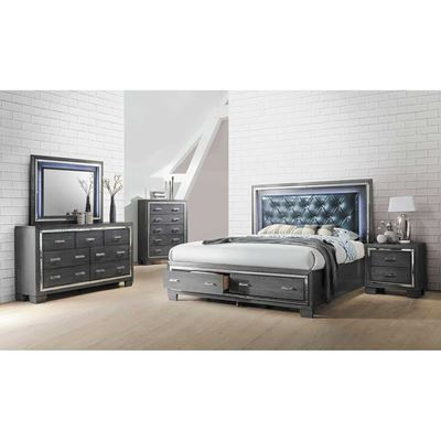 Picture of Titanium 5 Piece Bedroom Set