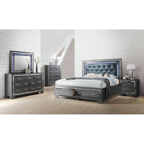 Picture of Titanium 5 Piece Bedroom Set