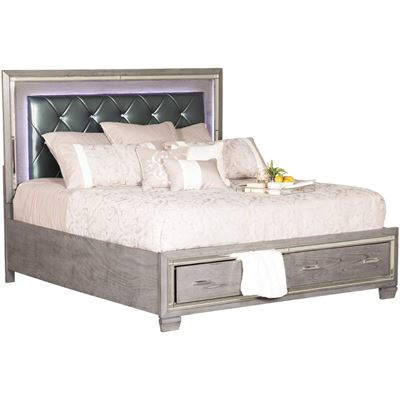 Picture of Titanium Queen Storage Bed