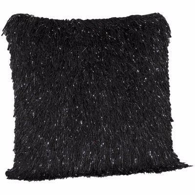 Picture of 20X20-Decorative Pillow Sparkle Shag Black