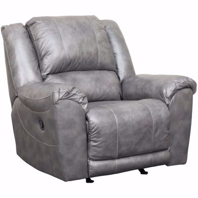 Picture of Persiphone Charcoal Leather Rocker Recliner