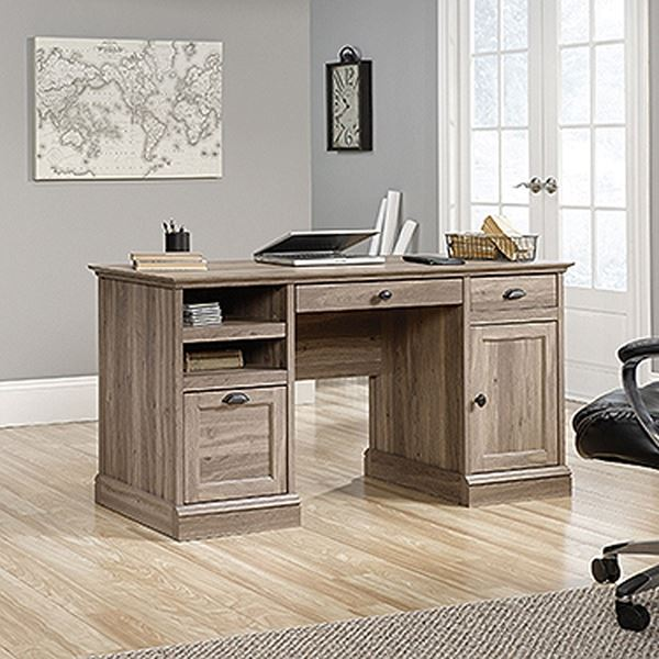 Picture of Barrister Lane Executive Desk Salt Oak * D