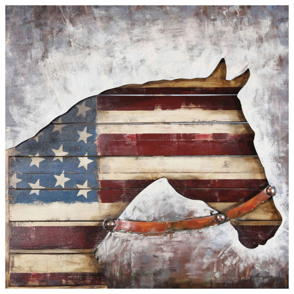 Picture of American Horse Metal Wall Decor