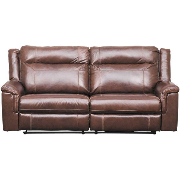 Picture of Wyline Leather Power Reclining Sofa with Adjustable Headrest