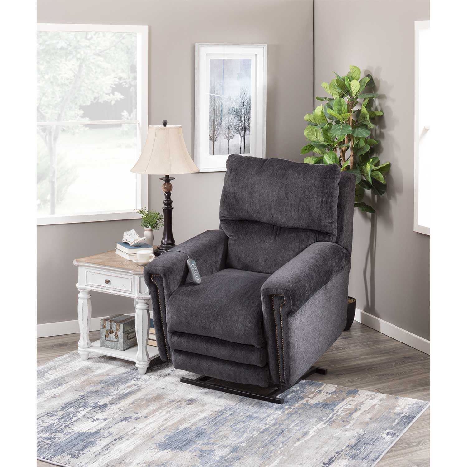 Picture of Warner Power Lift Chair with Adjustable Headrest And Lumbar