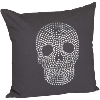 Picture of 20x20 Sequined Skull Decorative Pillow
