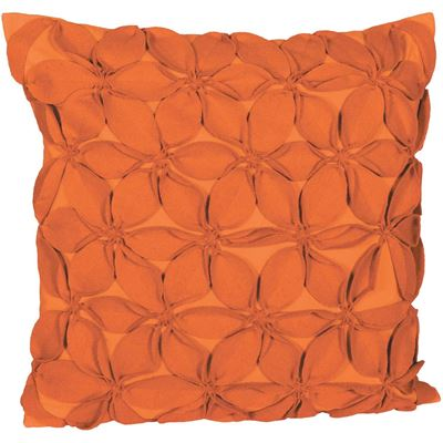 Picture of 18x18 Orange Felt Petals Decorative Pillow