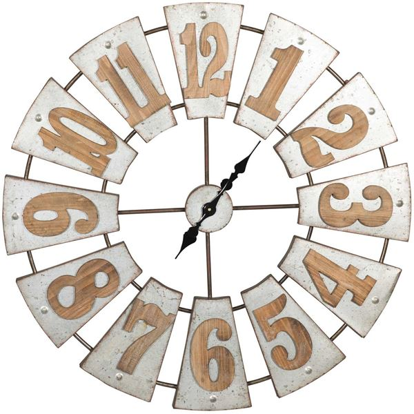 Picture of Wood and Metal Clock
