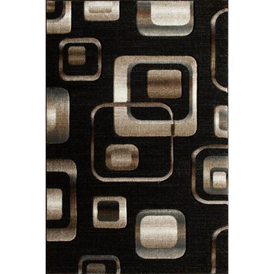Picture of Lineville Black Squares 8x10 Rug
