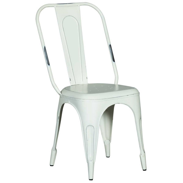 Picture of White Retro Cafe Side Chair