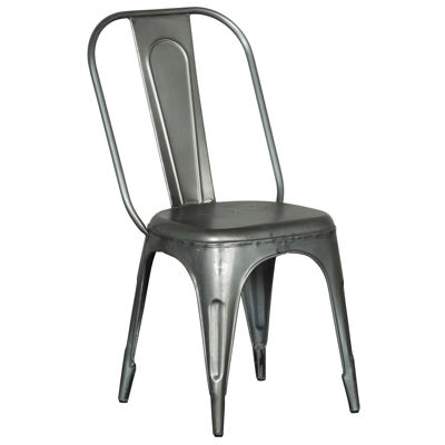 Picture of Natural Steel Retro Cafe Side Chair