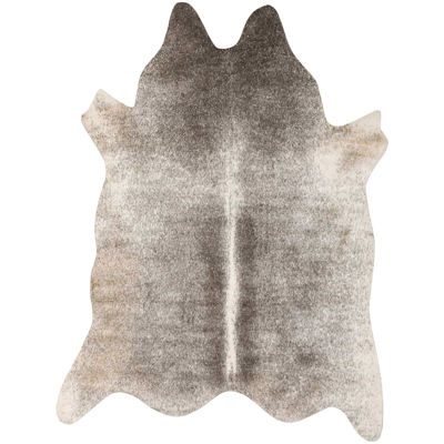 Picture of Grey Ivory Faux Hide 5x7 Rug