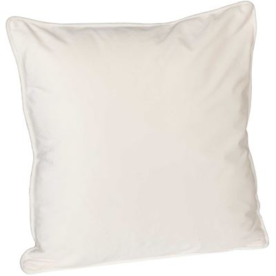 Picture of 18X18 Cream Velvet Decorative Pillow