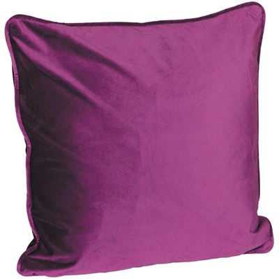 Picture of 18X18 Eggplant Velvet Decorative Pillow