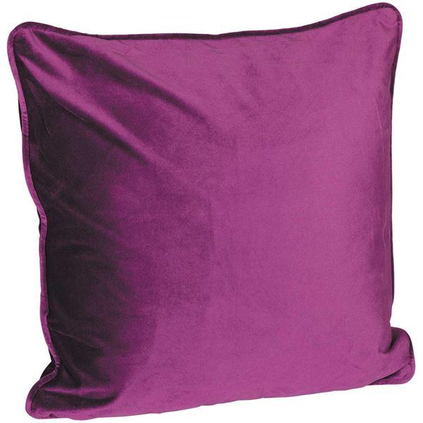 Picture of 18X18 Eggplant Velvet Decorative Pillow