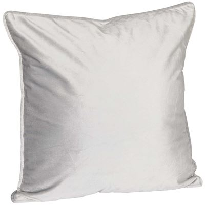 Picture of 18X18 Grey Velvet Decorative Pillow