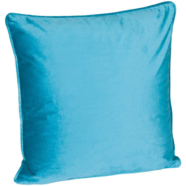 Picture of 18X18 Teal Velvet Decorative Pillow
