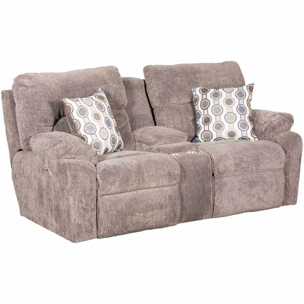 Picture of Tribute Power Reclining Console Loveseat with Adjustable Headrests